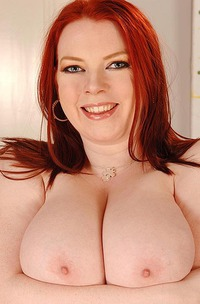 Busty Redhead Emily Cartwright Trying Out Sexy Bras For You