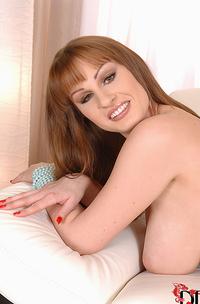 Czech Beauty Tugs On Her Nipples