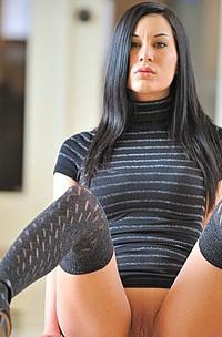 Brunette Babe Erotic Posing