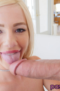 Horny Slut Bella Rose Sucking Big Cock