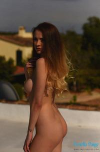 Busty Brunette Emelia Paige In Bikinisuit