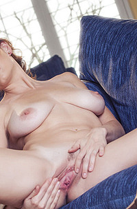 Jamie Lynn Caresses Her Breasts And Fucks Her Pussy