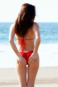 Amy Markham Red Hot Bikini