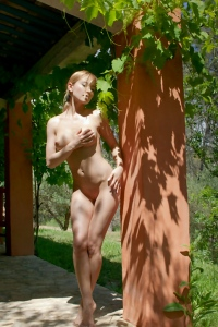 Wonderful Naked Girl In The Shadows