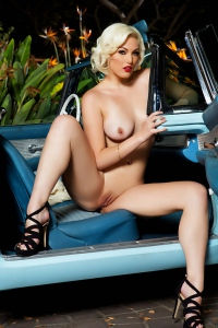 Jenna Ivory In A Car