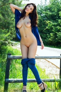 Evita Lima Having Fun Outdoor