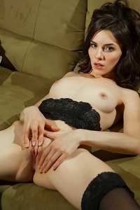 Amber In Sexy Black Lace