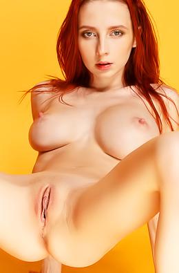 Busty Redhead Nude Helga Grey