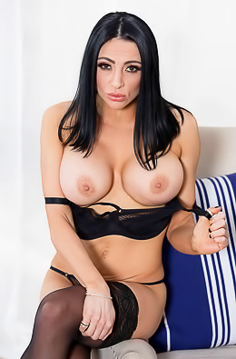 Busty Audrey Bitoni Stripping