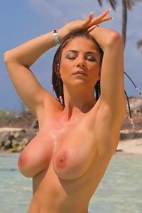 Roberta Missoni At The Beach