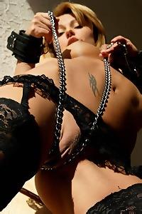 Stunning Tia Sexy Black Stockings