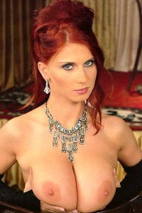 Big boobed glamour redhead bitch