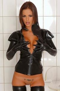 Black Angelica Latex Babe