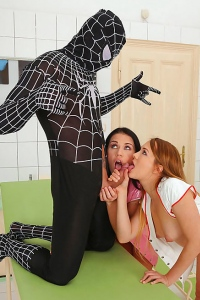 Hot Nurses Suck On Spiderman