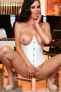 Sexy lingerie and some dildo play Veronica Avluv is your girl.