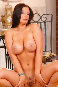 Sexy Babe Aria Giovanni Strips Nude Posing And Teasing You