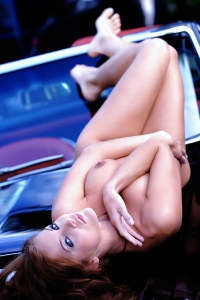 Ivette Blanche Loves The American Muscle... Cars!