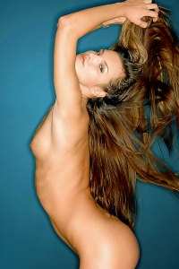 Long, Brown Haired Supermodel Suzie Carina Teasing