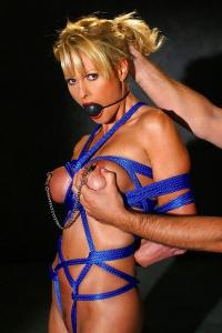 Busty Blonde Bondage MILF