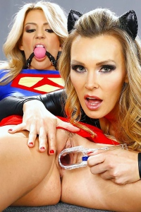 Super Hero Tanya Tate Scissors A Hot Blonde Crime Fighter