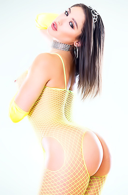 Abella Danger In Yellow Fishnet