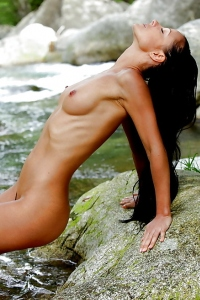 Melissa Nude By The River
